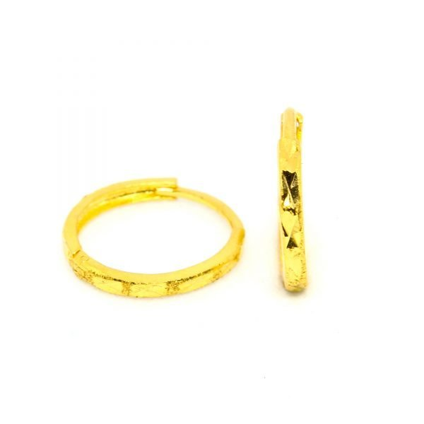 Plain Gold Bali 0.760 g light weight 18 kt