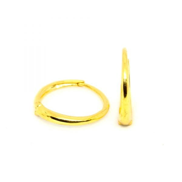 Plain Gold Bali 0.660 g light weight 18 kt