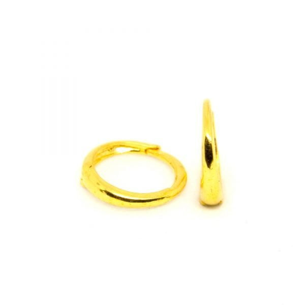 Plain Gold Bali 0.530 g light weight 18 kt