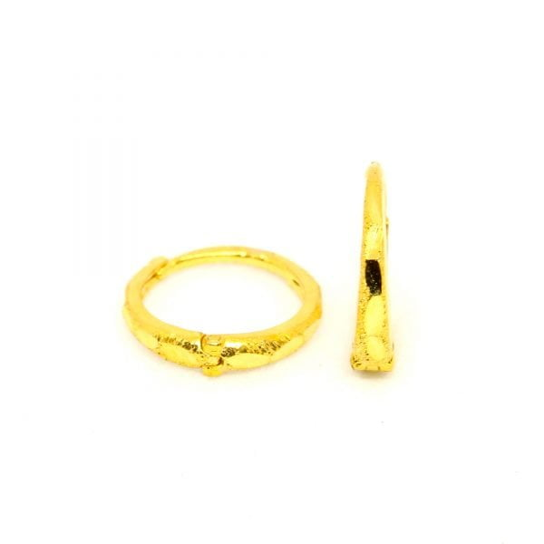 Plain Gold Bali 0.600 g light weight 18 kt